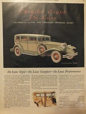 Dec 1931 Chrysler car magazine ad