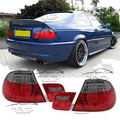 Rear Led Tail Lights Red-Smoke For Bmw E46 99-03 Coupe Series 3 Lamp