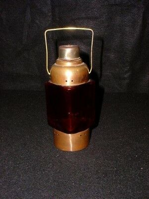 Vintage Copper/Red Musical Lantern Style Bottle