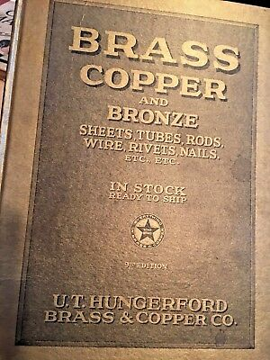 "Vintage Catalog Book, ""Brass, Copper and Bronze"" 1926"