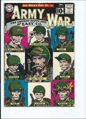 Our Army At War 112 - G 2.0 - Sgt. Rock - Classic Easy Co. Roster Cover (1961)