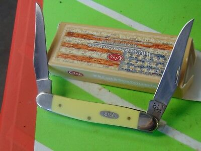 2014 Case XX Pocket Folding Knife MUSKRAT YELLOW 00056 New in Box