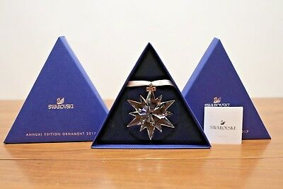 New 2017 Annual Edition Large Christmas Gift Ornament Swarovski Crystal #5257589