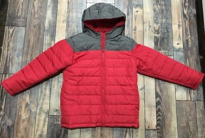 Boys GYMBOREE Winter Coat NEW Gray Red PUFFER Hood NWT JAcket Size S 5 6