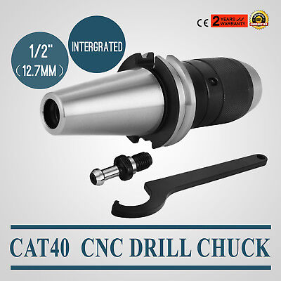 """Cat40 Drill Chuck 1/2"""" Fits On Haas Cnc Intergrated Precision Pop Local Easy"""