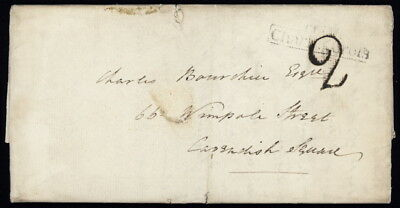GB, Isle of Wight 1826 Stampless folded ltr from Fairlee Cottage, Newport & more