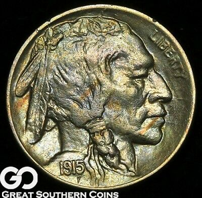 1915-D Buffalo Nickel, Very Nice Solid Gem BU++ Better Date ** Free Shipping!
