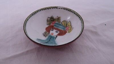 Steinbock-Email Hand Made In Austria Small Plate / Hand Painted Salt Cellar