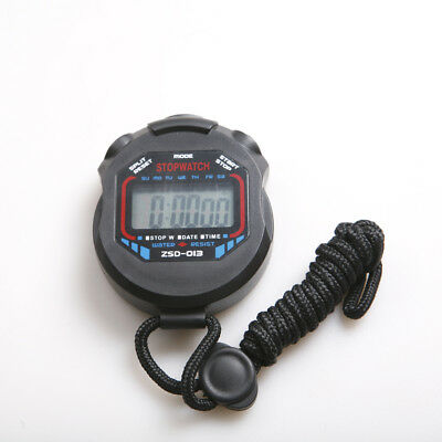 Sports Chronograph Stopwatch Stop Watch Time Clock Alarm Run Step Counter Timer