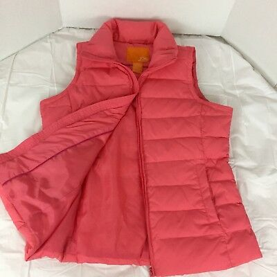 Joe Fresh Women's Lightweight Coral Down and Feather Filled Vest Size Medium