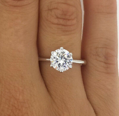 1.15 Ct Round Cut Vs1 Diamond Solitaire Engagement Ring 14K Yellow Gold