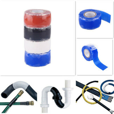 3m Silicone Rubber Repair Tape Waterproof Bonding Rescue Self Fusing Wire Hose