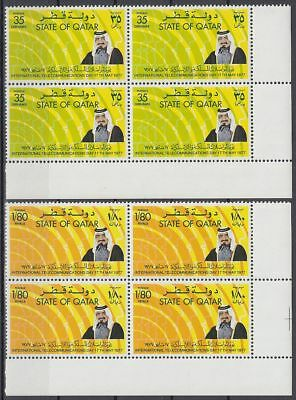 1977 Qatar Mi.726/27 **/MNH Blocks/4, Telecommunications [sr3296]