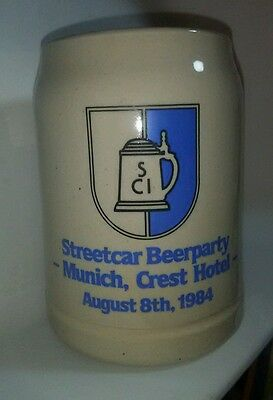 SCI Stein Streetcar Beer Party Munich Crest Hotel Aug 8 1984