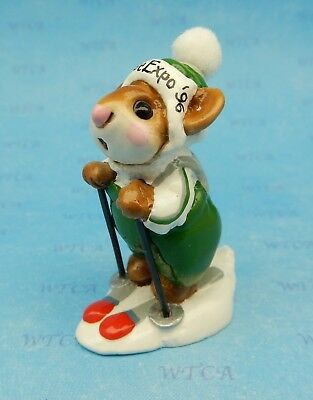 SKIER MOUSE by Wee Forest Folk, MS-9 Mouse Expo 1996 Event Exclusive 1 of 36