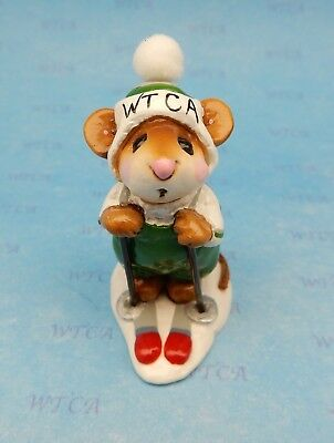 SKIER MOUSE by Wee Forest Folk, MS-9 Mouse Expo 1996 WTCA Store Special