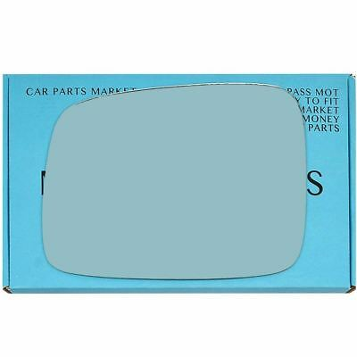 Left side Blue Flat mirror glass for Vw transporter t4 90-03 heated LHD plate
