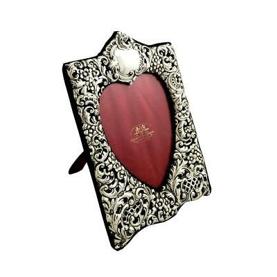 Lovely Antique Sterling Silver 'heart' Photo Frame - 1901