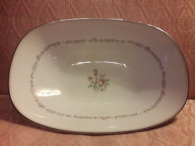 Noritake Fine China Mayfair 6901 Pattern Oval Vegetable Bowl 10 x 7