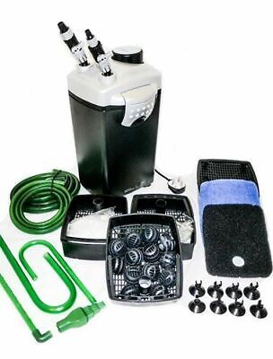 Hidom EX 1200 External Aquarium Canister Filter Tropical Fish Tank + FREE Media