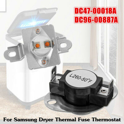 Dryer Thermal Fuse Thermostat Assembly Kit DC47-00018A & DC96-00887A For Samsung