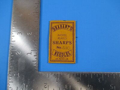 Vintage Brabant's Nickel Plated Sharps 5/10 Needles Redditch England S4112