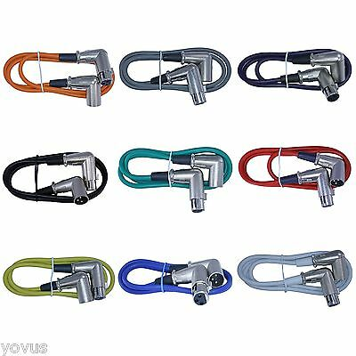 9pack 3ft foot mixed color Right angle Male to Female XLR pin microphone cables