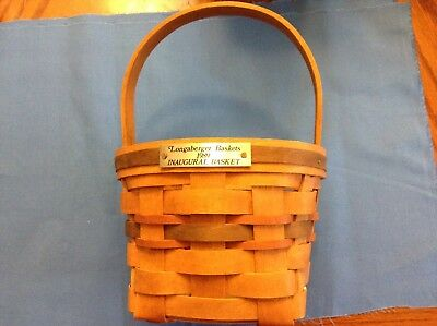 1989 Longaberger Presidential Inaugural Basket!  First in the series! Fast Ship!