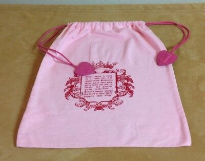Juicy Couture Dust Cover, Storage Pouch, Handbag Holder, Drawstring Bag, Pink