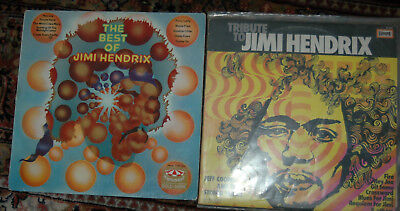 2 Jimi Hendrix Lps The Best of Tribute To