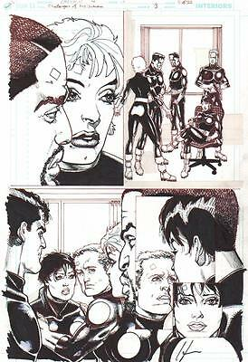 Howard Chaykin Signed 2004 Challengers Of The Unknown Orig. Art-Free Shipping!