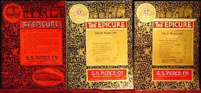 (3) Different Old S.s. Pierce Co. Importers & Grocery Store Epicure Catalogs