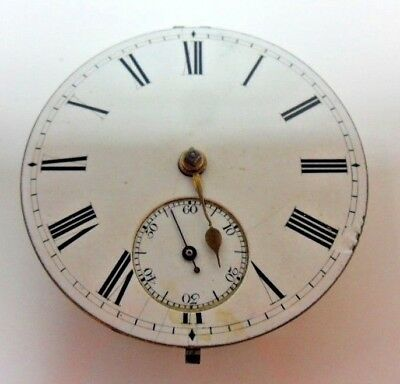 """English Lever """"fusee"""" Antique Pocket Watch Movement Working"""