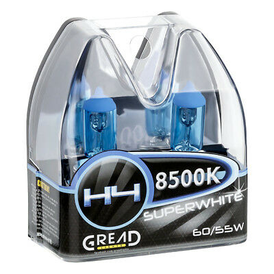 H4 Box Halogen Lampen In Xenon Optik Von Gread Lights Super White 8500K 60/55W