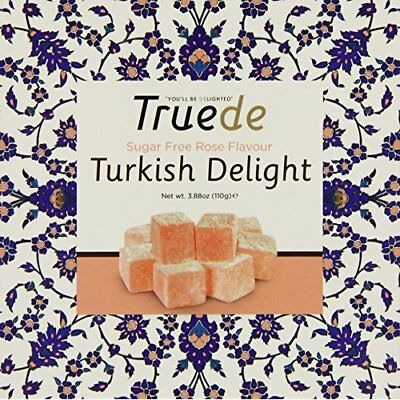 Truede Sugar Free Rose Flavoured Turkish Delight 100 g (Pack of 2)
