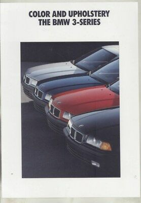 1991 BMW US 325i Interior Upholstery Exterior Paint Color Brochure wy9899