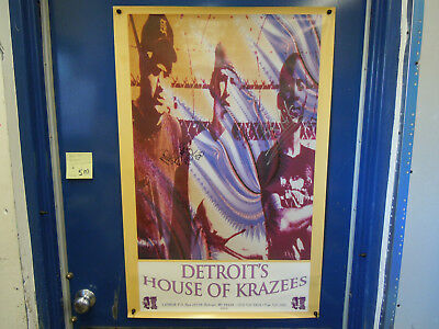 (5M) Detroit's House of Krazees Music Poster Autograph Signed by Mr.Bones Hektic