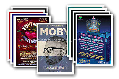 MOBY - 10 promotional posters  collectable postcard set # 2
