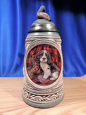 Budweiser 'first Hunt Series' (Springer Spaniel) Lidded Stein