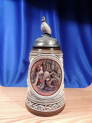 Budweiser 'first Hunt Series' (Pointer) Lidded Stein