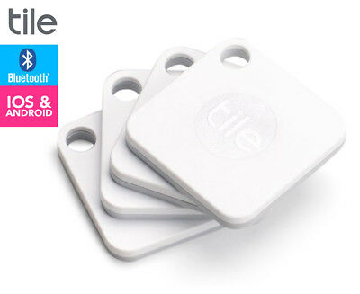 TILE Mate Bluetooth Tracker 4-Pack - White
