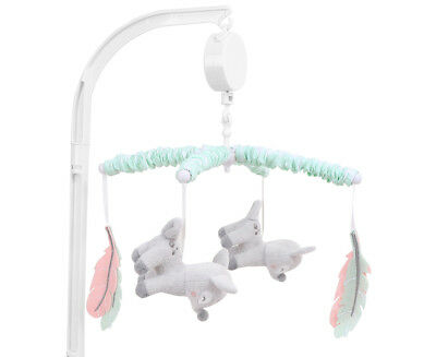Little Haven Oh Deer Musical Mobile - Coral/Mint
