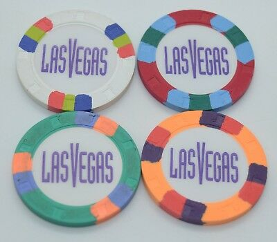 Set of 4 Custom H&C Paul-son Clay Chips Las Vegas Style 39mm Casino Chips