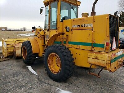 1986 John Deere 444D Articulating Wheel Loader Cab Heat with Protech pusher box