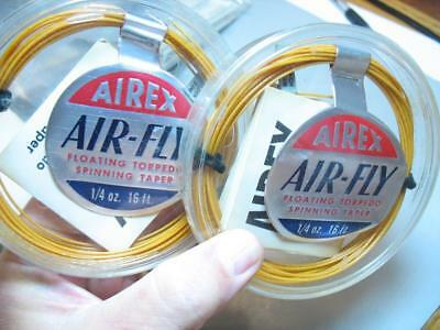 2 vintage Airex spinning fly line new in packages