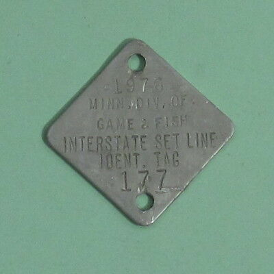 1976 Minnesota Boundary Waters Interstate Setline License Tag ...Free Shipping!