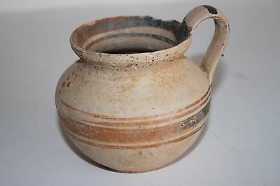 ANCIENT GREEK HELLENISTIC  POTTERY OLPE MUG 3rd CENTURY BC