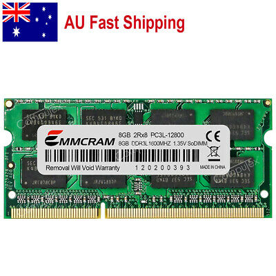 AU 8GB  PC3L-12800 DDR3-1600 204Pin 1.35V Memory For Dell Hp IBM Lenovo Thinkpad