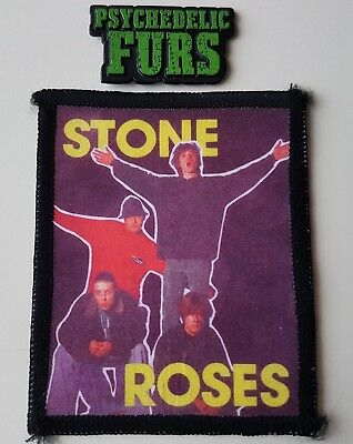 The Stone Roses Vintage Patch & Psychedelic Furs Badge New Wave Indie Dance Rock
