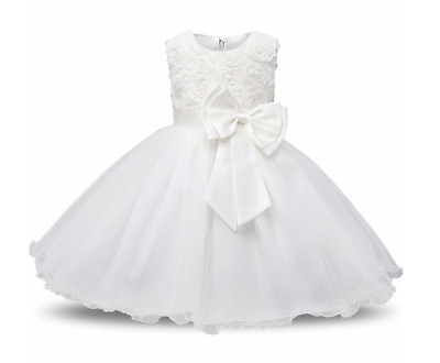 Belle Robe Blanche Bebe Fille Taille 9 Mois Style Princesse Bapteme Mariage